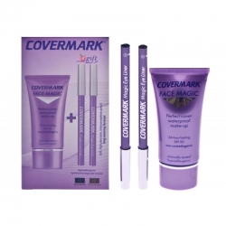Pack combi Maquillaje correctivo  Face Magic Covermark + 2 eye liner