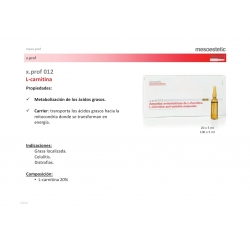 Ampollas mesoterapia x.prof 012 L-carnitina mesoestetic