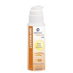 Leche protectora solar corporal + after sun Rayblock Body Plus Milk SPF20 Covermark