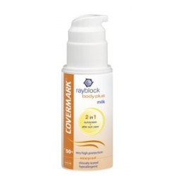 Leche protectora solar corporal + after sun Rayblock Body Plus Milk SPF50+ Covermark