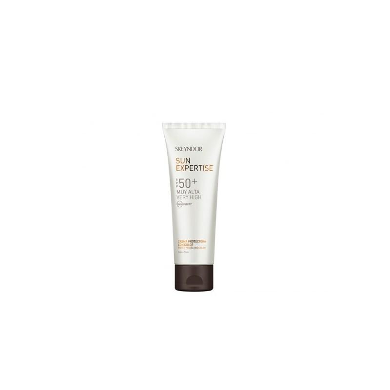 Crema protectora con color SPF 50+ sun expertise Skeyndor