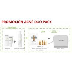 Pack Navidad Acne one + purifying mousse + pollution defense ampoules (5ud) Mesoestetic